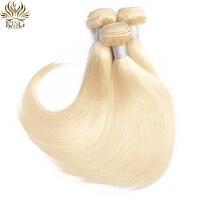 King Hair Brazilian Straight Hair 1pcs 613 Bundles 100% Human Hair Weaves 10 26inch Remy Human Hair Extensions Blond Bundles