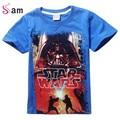 Novo 2016 meninos roupas t camisa das meninas crianças nova de star wars star wars t-shirt top crianças verão camisa t star wars meninos roupas