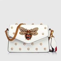 High Quality Crossbody Bag Luxury Handbags Women Bags Designer Genuine Leather Bee Cluth Bag Mini Shoulder Bag Bolsos 2018
