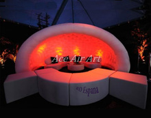 inflatable half round dome tent,inflatable garden round tent for sale