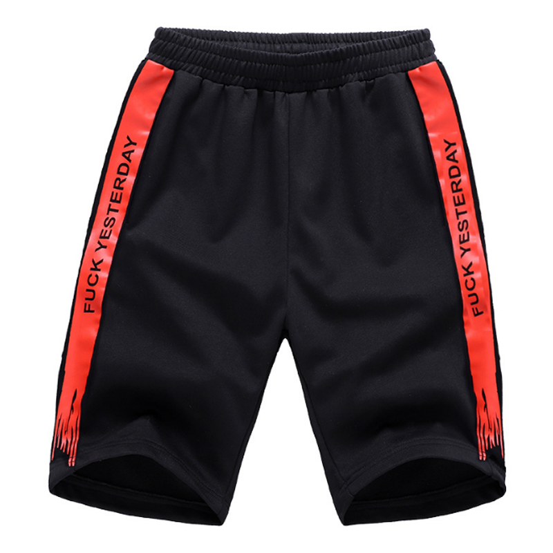HanHent 2018 summer new funny letter printed shorts men fashion beach shorts polyester c ...