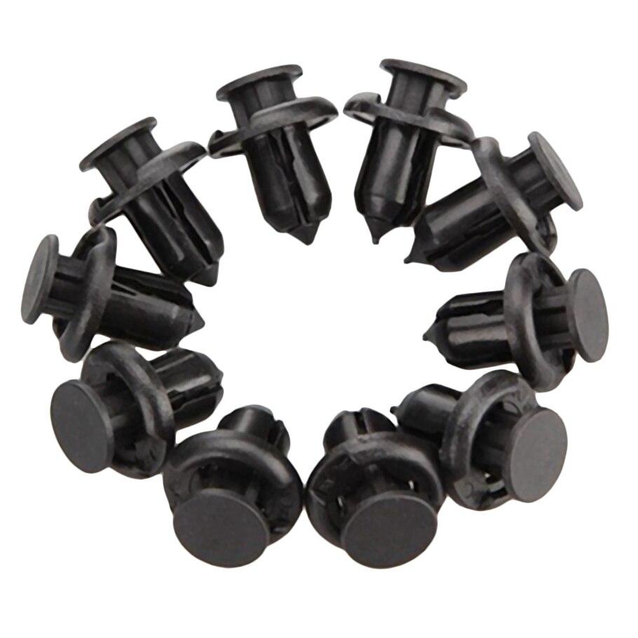 6mm x 11mm x 10mm Rivet Plastique Clip Tige-Poussoir Agrafe Pare-boue Pare-chocs de Voiture 100 pcs