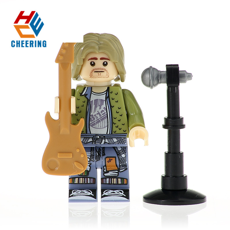 Single Sale Building Blocks Freddie Mercury Grunge Icon Donald Trump Figures Bricks Model Gift Toys For Children KF422