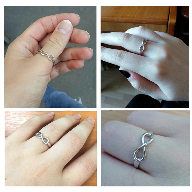 925 Стерлинг Силвер Инфинити Ринг - Модни накит - Фотографија 5