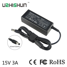 common AC Plug 6.3mm*three.0mm 15V Laptop computer Battery Charger AC Adapter 65W Energy Provide Charger Twine For toshiba Laptop computer charger