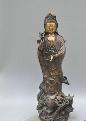 006384 19 Buddhism Bronze Avalokitesvara-Guanyin-Kwan-yin Buddha Sculpture Statue006384 19 Buddhism Bronze Avalokitesvara-Guanyin-Kwan-yin Buddha Sculpture Statue
