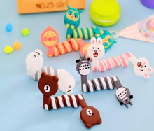 Cute Cartoon Earphone Wire Cord Cable Winder Organizer Holder for iPhone 6Tablet MP3 MP4 PC Electric Cable winding thread tool