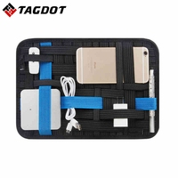Elastic Storage Plate Notebook Mouse Mobile Hard Disk Data Cable Headset Charger Digital Storage Bag Oxford