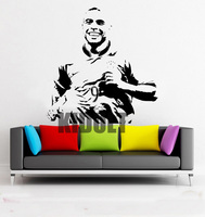 Soccer Superstar Ronaldo Wall Decal Wall Stickers Vinyl Stickers Posters Indoor Football Stadium Home Fans Backdrop