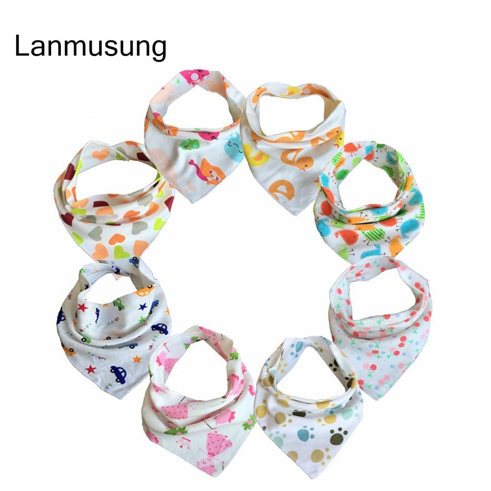 7pieces/lot Baby Bibs For Boy&Girl Burp Cloths Bandana Bibs For Babies Baberos Bebes Bandanas Baby Bib For waterproof cloths