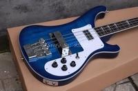 New Arrival Top Quality Factory Custom Blue Rickenback 4003 custom 4 strings bass guitar ricken bass