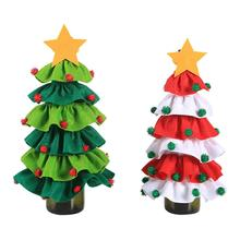 Christmas Decoration Innovative Tree Elf Wine Bottle Set Foreign Scene Accessories Brushed