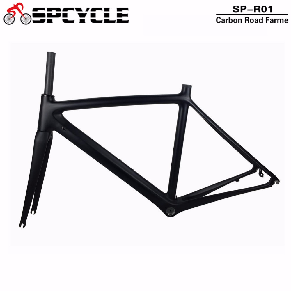 купить Spcycle 700C Road Bicycle Carbon Frames, Full Carbon Road Bike Framesets Racing Bicycle Carbon Frames with Fork In Stock по цене 24343.11 рублей