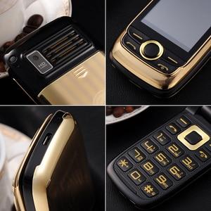 Image 2 - BLT V998 flip הכפול מסך כפול שני מסך בכיר טלפון נייד רטט מגע מסך כפול SIM קסם קול טלפון סלולרי p077