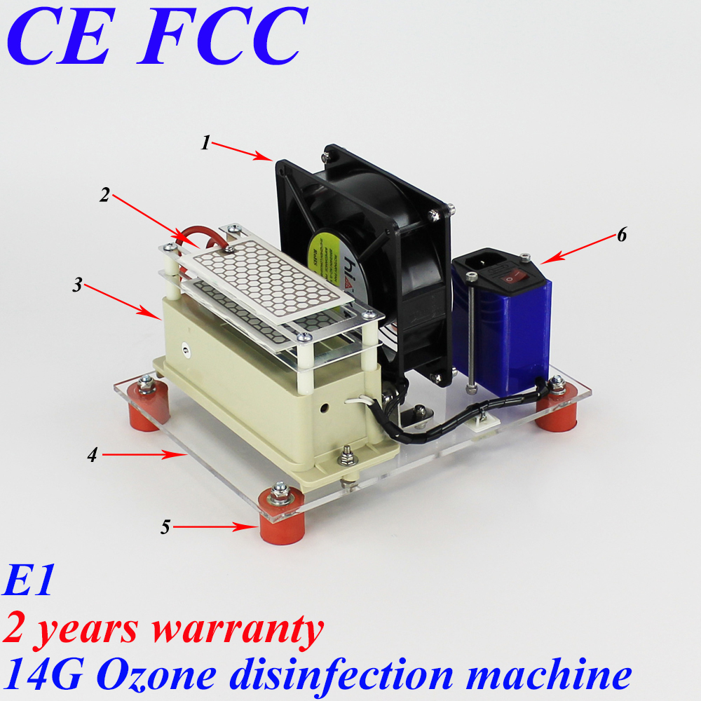 To Vietnam Thailand Indonesia Philippines Cambodia New Zealand Australia 14g/h E1 simple ozone air disinfection machine resilience in cambodia