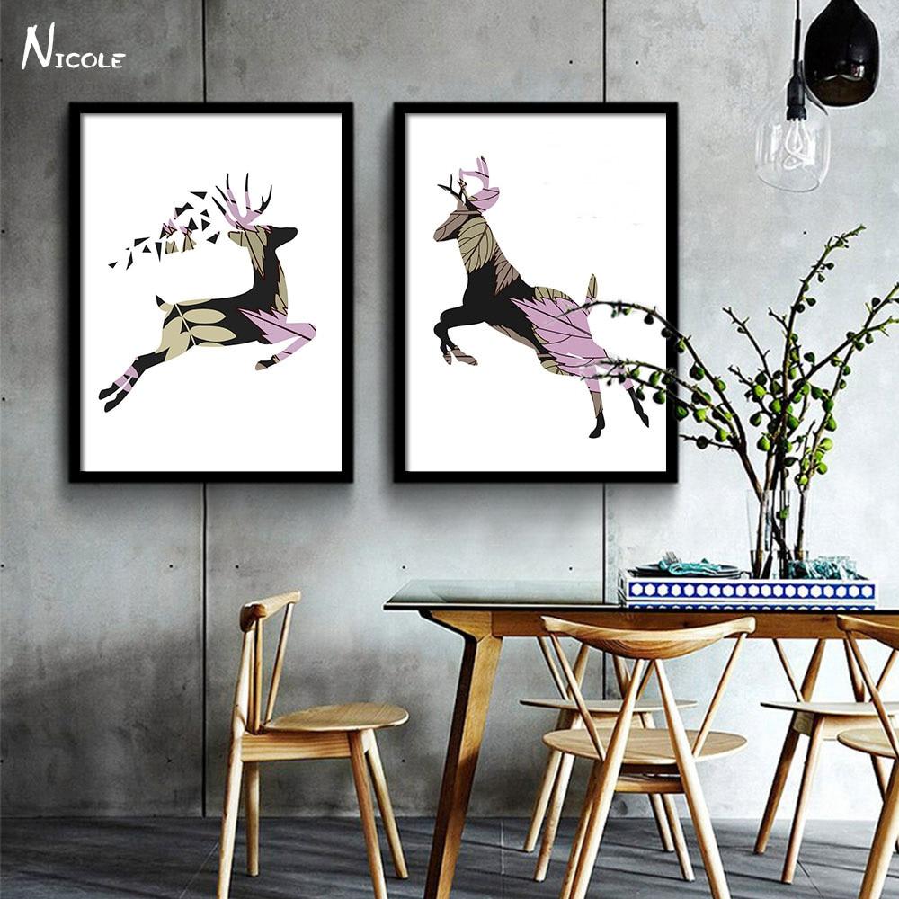 Online kopen wholesale herten silhouet uit china herten silhouet groothandel for Schilderen moderne volwassen kamer