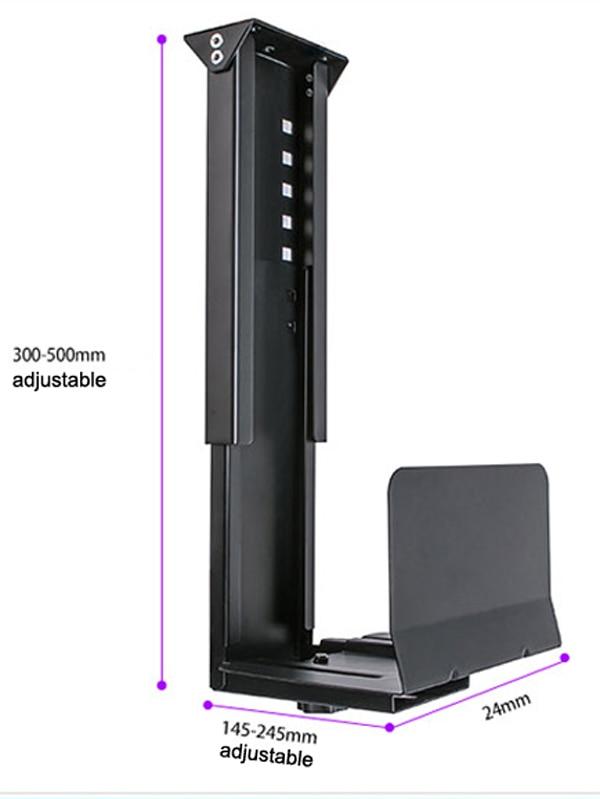 Universal PC Case Holder Under Desk Wall Side CPU Stand Adjustable Computer Mainframe Hanger Host Box Stand Bracket Rack GD08