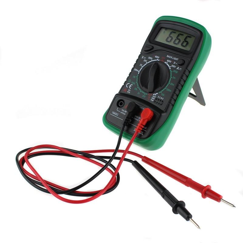 1 stück Tragbare Handed XL830L Digital Multimeter multi meter AC/DC spannung meter DC Amperemeter widerstand tester