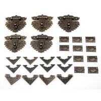 55pcs Set Classic Furniture Drawer Jewellery Wood Box Corner Decorative Feet Leg For Boxes Fittings For