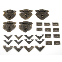 55pcs Set Classic Furniture Drawer Jewellery Wood Box Corner Decorative Feet Leg For Boxes Fittings For