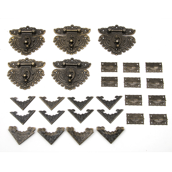 Hakkin 55pcs/set Classic Furniture Drawer Jewellery Wood Box Corner Decorative  Feet Leg For Boxes Fittings For Furniture