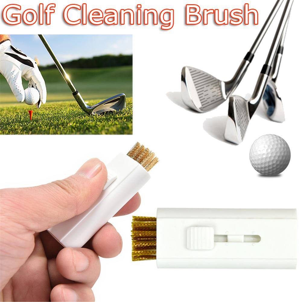 Dual-Use Mini Golf Brush Sports Hand Cleaning Tool Iron Golf Club Brush With Steel Wire Bristles Cleaner Golf Ball Tool