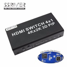 Ssriver 4 k hdmi 1.4b 4 entrada y 1 salidas switcher interruptor con picture-in-picture (PIP) función HD 4 k * 2 K 3D PIP Switcher Convertidor
