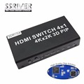 Ssriver 4 k interruptor 1.4b hdmi 4 em 1 out switcher com picture-in-picture (PIP) função PIP HD 4 k * 2 K 3D Switcher Conversor