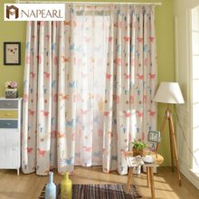 NAPEARL Cartoon Decoration Blackout Curtain All-match Tulle Kids Shading Panel Window Cloth New Year Home Textiles Child Drapery(China)