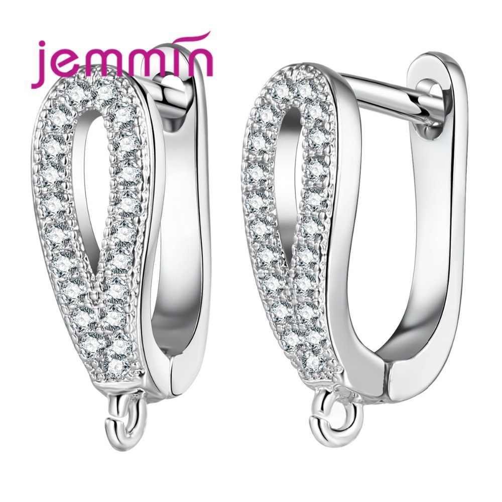 Composants de boucles d'oreilles en Micro strass transparent pour bijoux à bricoler soi-même accessoire 925 crochets en argent Sterling résultats de fil d'oreille