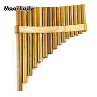 Natural Bamboo Chinese Folk Musical Instrument Pan Flute 15 Pipes G Key Woowind Instrument Panpipes Flauta Handmade Panflute