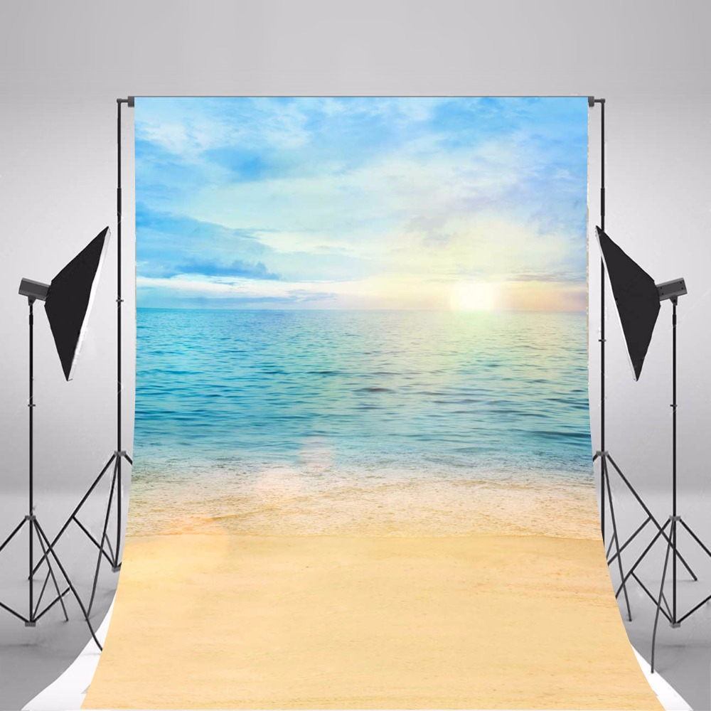 2017 Children Photographic Backgrounds Sea Beach Photo Backdrops Vinyl Backgrounds For Photo Studio Floral Fundo Fotografia 2017 wooden floor photographic backgrounds children photo backdrops vinyl backgrounds for photo studio baby newborn fotografia