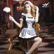 9728 New Arrival French Maid Cosplay Costumes Servant Cosplay Outfit Women Sexy Lingerie Erotic Women Servant Costumes