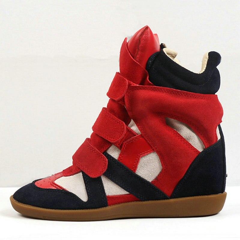 JINGKUBU Neue Kuh Wildleder Stiefel Frauen Mode Casual Schuhe Für Frau Amerika Und Europa Erhöhte Innerhalb Schuhe Frau Große Größe 35 41 - 3