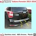 Corpo do carro guarnição de aço inoxidável tampa de proteção No Vidro Traseiro voltar rear cauda inferior Em Torno de 1 pcs para Su6aru Forester 2013 2014 2015 2016