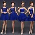 2016 New Royal Azul Vestidos Das Damas De Honra Curto Damas de Honra Vestidos baratos da dama de honra vestidos under 60