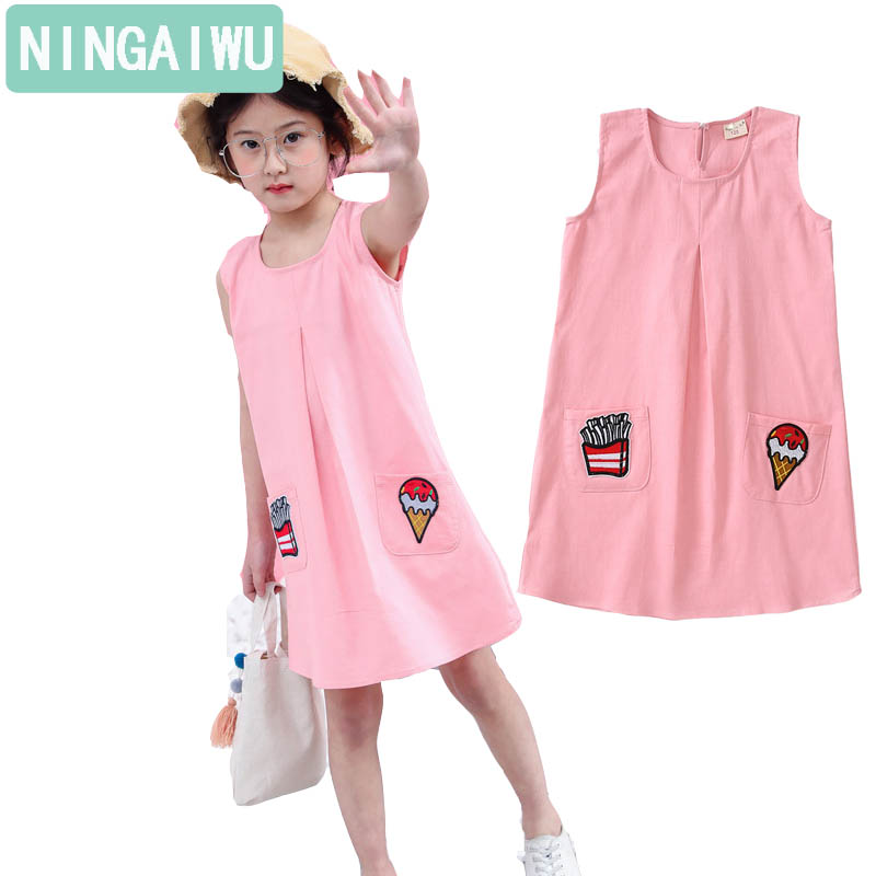 Girls dress in summer Cotton and linen sundress of 6 7 8 9 10 14 years child Girl summer leisure sleeveless dresses kids clothes purnima sareen sundeep kumar and rakesh singh molecular and pathological characterization of slow rusting in wheat
