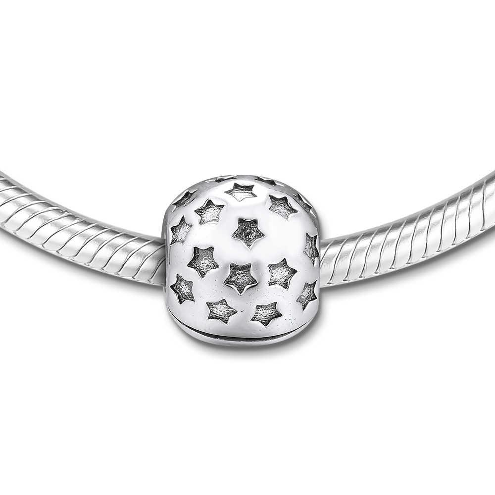 CKK Fit Pandora Pulseiras Estrela Encantos Clipe de Prata Esterlina 925 Contas para Fazer Jóias Charme Joyas Originais kralen