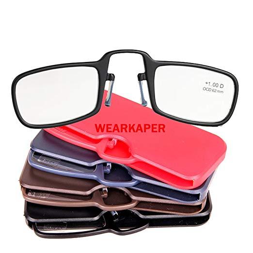 WEARKAPER New Mini Thin Frame Optics Folding Reading Glasses Nose Resting Glasses Men Oculos De Grau With Original Box 1.-3.0