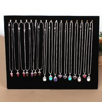 New 17 Gold Hooks Black Suede Jewelry Display Board For Necklace Bracelet Chain Utility Rack 63630