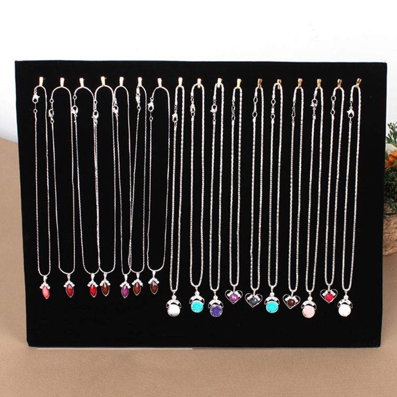 17 Hook Necklace Display Stand Women Jewelry Organizer Holder Storage Case Bracelet Display Rack #63630 european household jewelry storage display stand