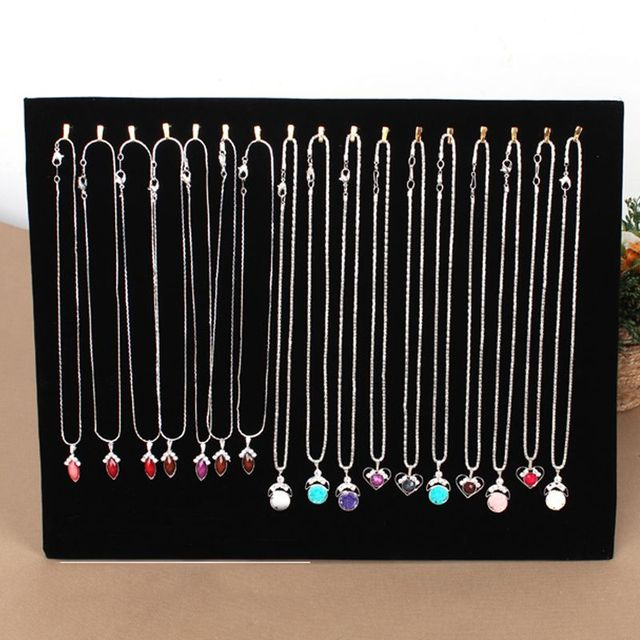 17 Hook Necklace Display Stand Women Jewelry Organizer Holder
