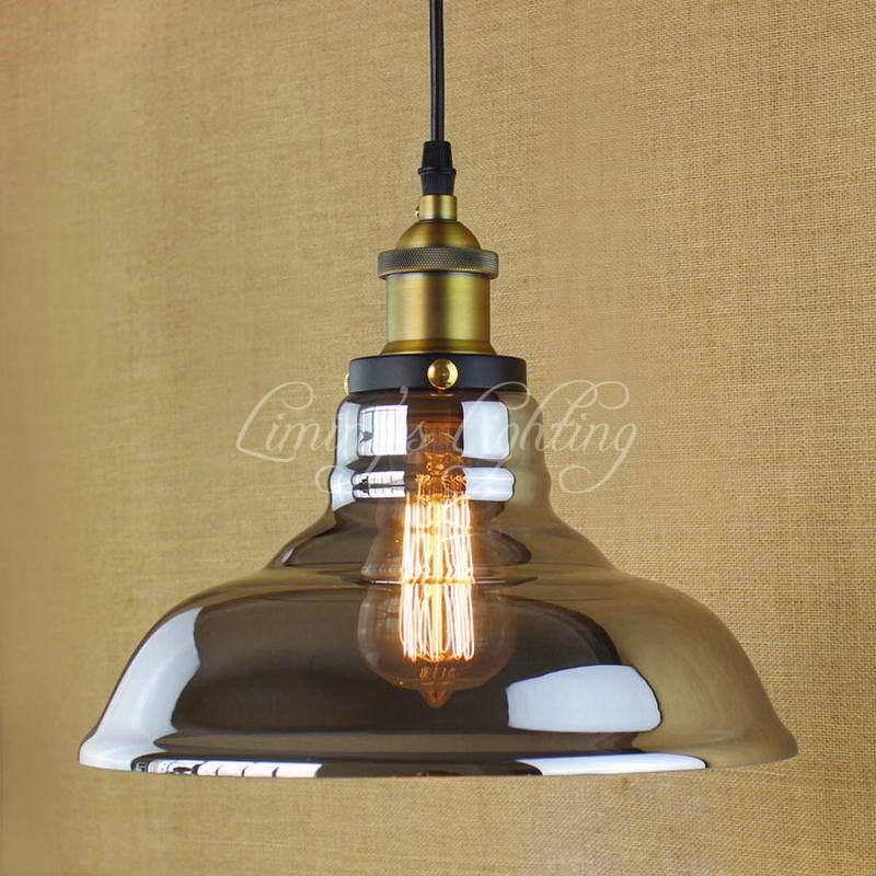Modern Retro Vintage Industrial Style Edison Bulb Glass Pendant Lighting Kitchen Restaurant Cafe Decoration E27 Pendant Lamp