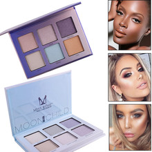 Miss Rose Moonchild Aurora Eyeshadow Palette Pressed Powder HighlighterBronzer Contouring Makeup Face Glow Kit