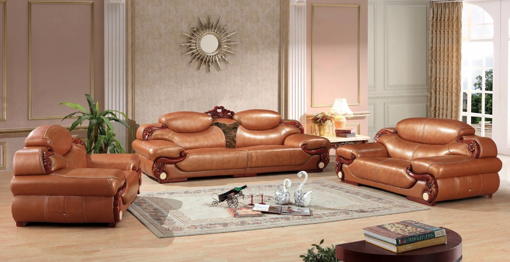 European leather sofa european leather sofa set living for Luxury living room sofa
