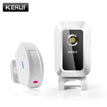 KERUI M7 דלת פעמון פעמון ברוכים אלחוטי תנועה דלת חיישן אזעקה לבית חנות חנותalarm for homealarm for shopsalarm wireless