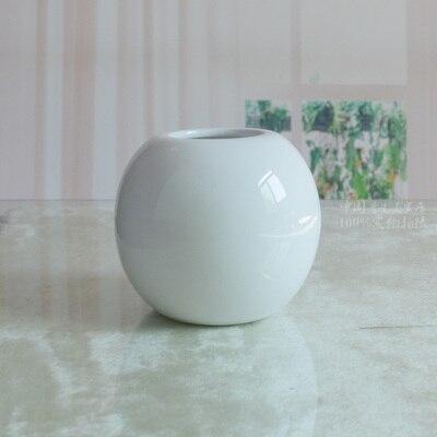 6 шт./лот белого цвета Краткая современная круглый шар ростки фасоли небольшие керамические дома вазы цветок брак украшения