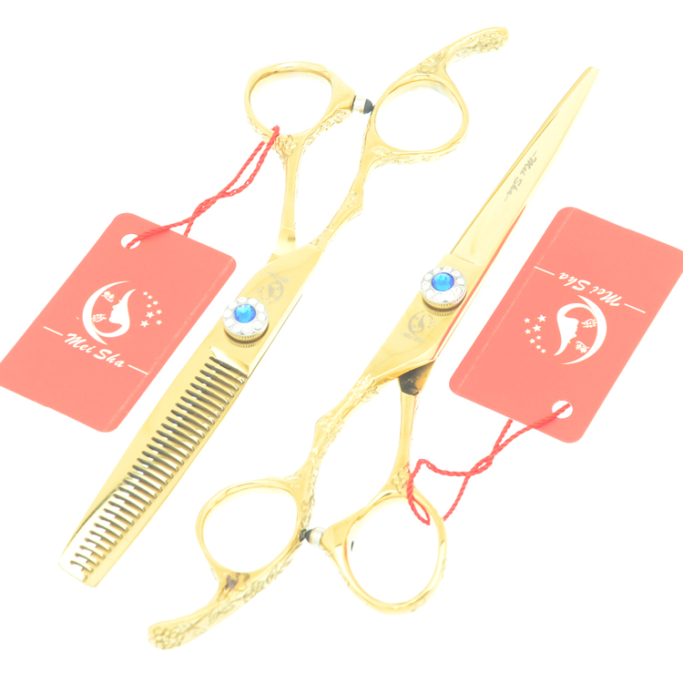 6.0Inch Meisha Left Hand Hair Scissors JP440C Salon Hairdressing Cutting Shears Human Hair Thinning Tesoura Bang Tijeras HA0376