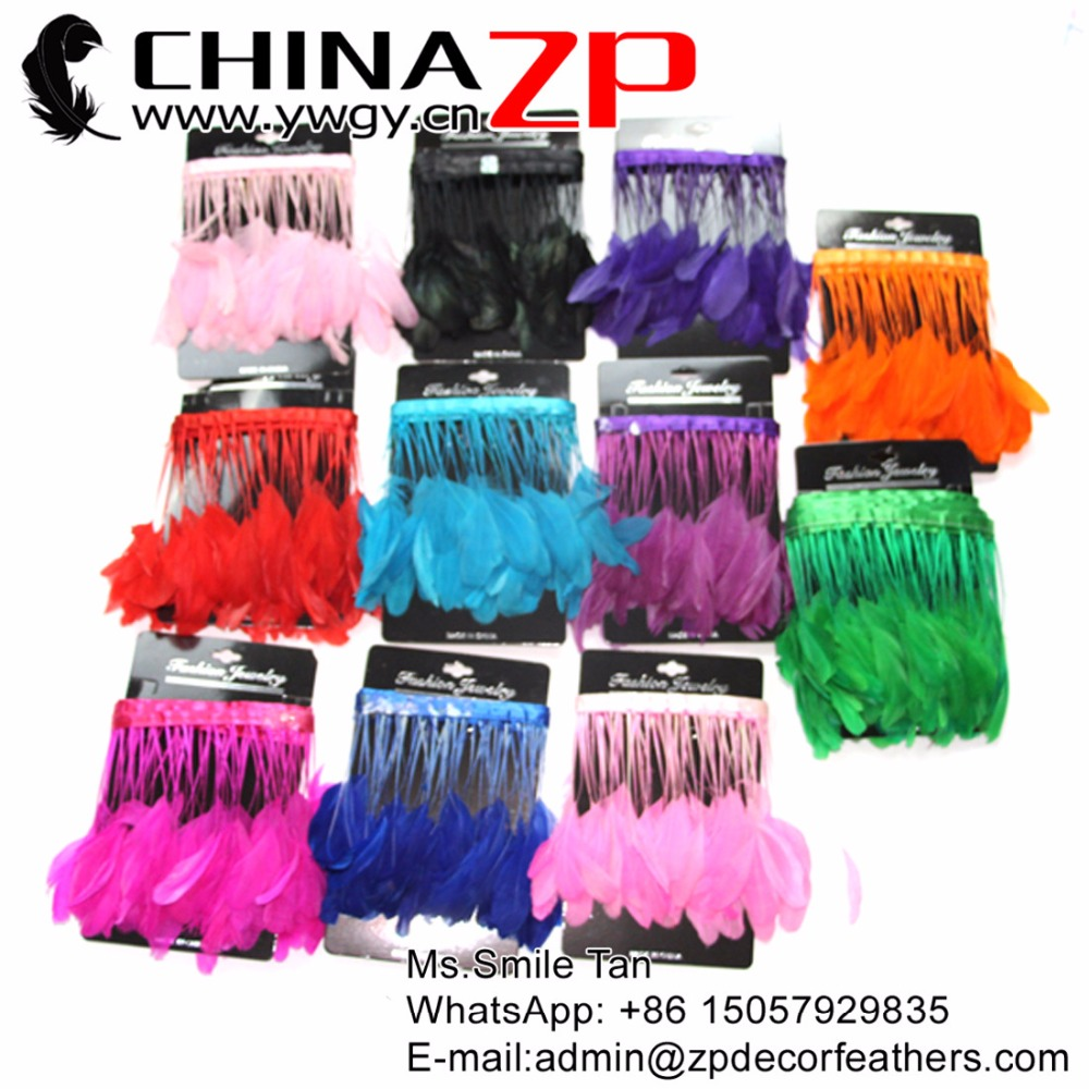 Plumes de CHINAZP en gros plume d'oie fantastique bricolage décoration Mixcolor dépouillé Coque queue plumes garniture pour artisanat