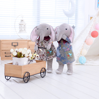 Metoo Cartoon Plush Toys Cute Rag Elephant Doll Plush Toys Great Gift For Kids Collection Girls Dolls 12*4 Inch/32*10cm(Brown)
